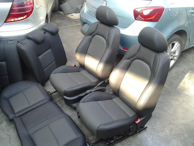 Autoleather per seat ibiza tapizado en cuero negro tapicer a en cuero automotriz sunroof - Tapiceria ibiza ...